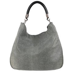 "YVES SAINT LAURENT A/W 2010 ""Roady"" Gray Stingray Leather Hobo Bag Purse YSL"