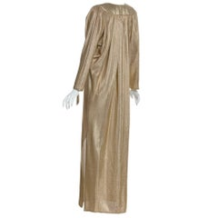 Bill Tice Metallic Gold Caftan, 1970s
