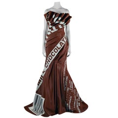 Moschino Couture Hershey Chocolate Bar Runway Gown   New