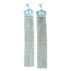Rhinestone showgirl earrings