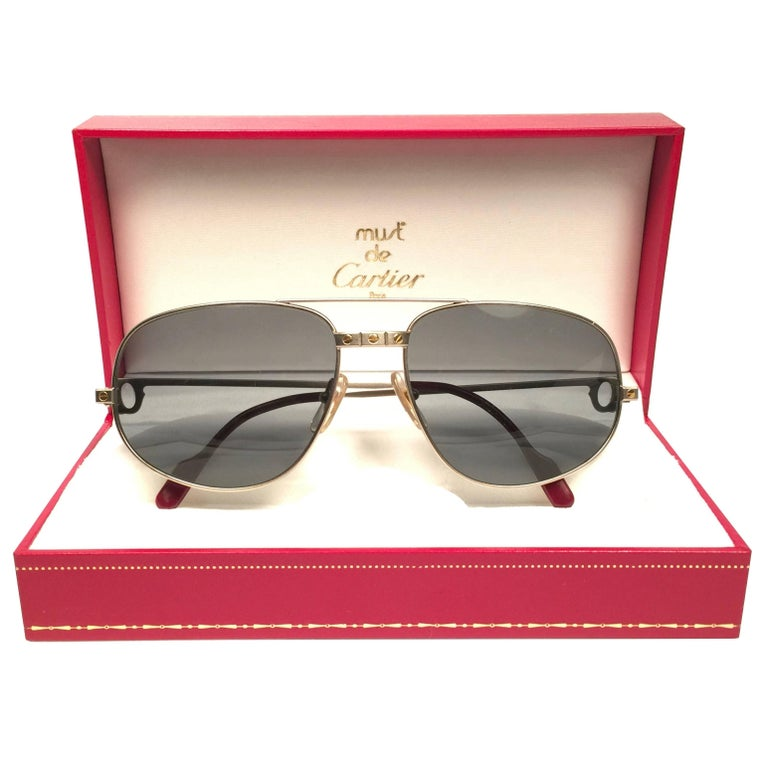 d7a0f2cfff8 Cartier Vintage Romance Santos 61mm Titanium France Sunglasses For Sale