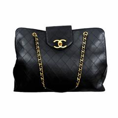 Chanel Lambskin Quilted Leather Overnight bag