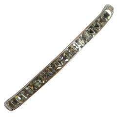 Vintage Art Deco Sterling Silver & Crystal Bracelet