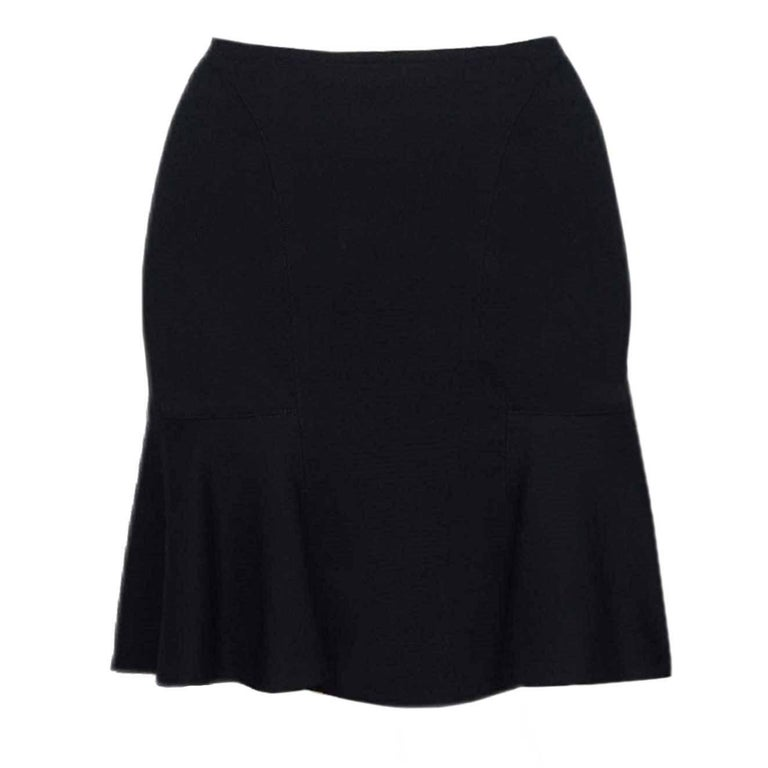 Alaia Black Wool Flared Skirt sz FR42