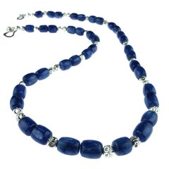 Blue Kyanite and Silver Necklace