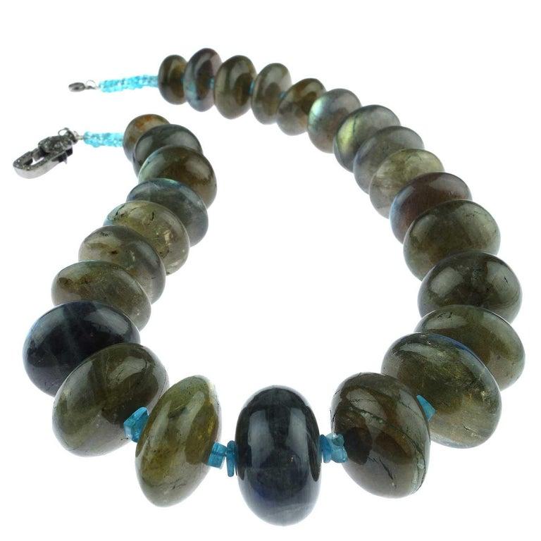 Labradorite Rondel Choker Necklace For Sale