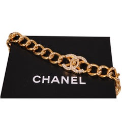 Chanel Diamante Studded Classic Chain Belt