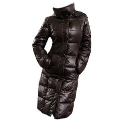 Kenneth Cole New Puffer Quilted Jacket Coat In Chocolate Brown