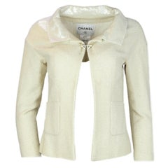 Chanel Cream Glitter / Sequin Jacket