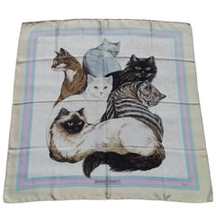 Hermès Silk Scarf Carré Les Chats Cats Daphne Duchesne 1985 90cm Collector