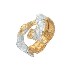 Loveness Lee - Ela - Gold and Silver textured ring