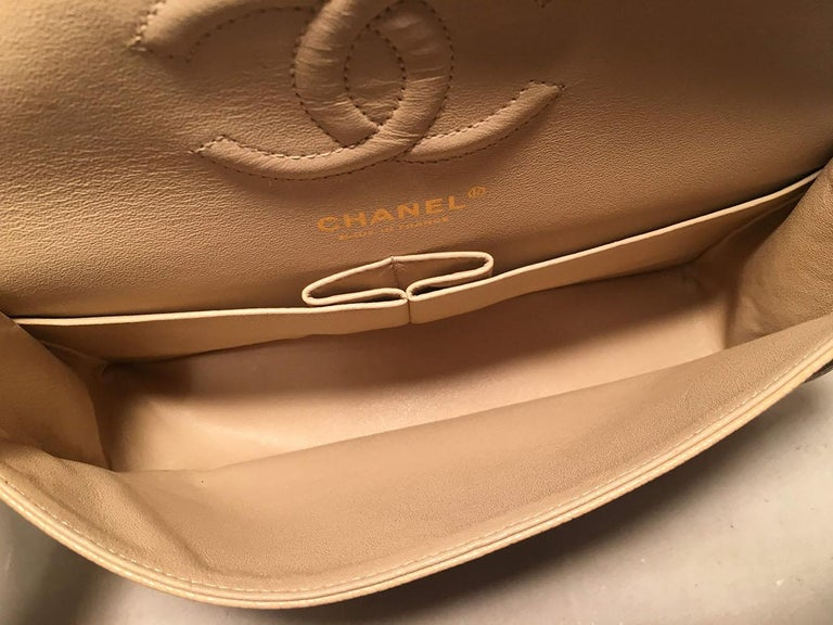5ce3a038dd06 Chanel Nude 10inch Quilted Caviar 2.55 Double Flap Classic Shoulder Bag For  Sale 4
