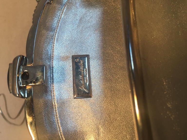 Judith Leiber Swarovski Crystal Checkered Grenade Minaudiere Evening Bag For Sale 2