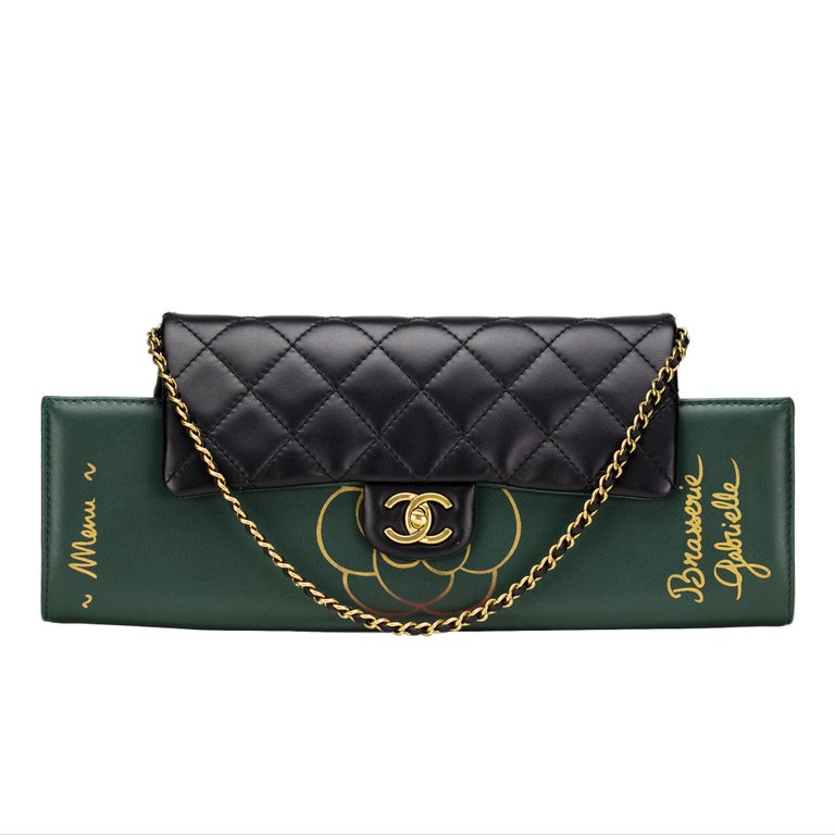 56261e051d87 Chanel Runway Brasserie Calfskin Gabrielle Shoulder Flap Bag and Clutch