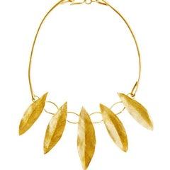 Giulia Barela Gold Leaves Necklace