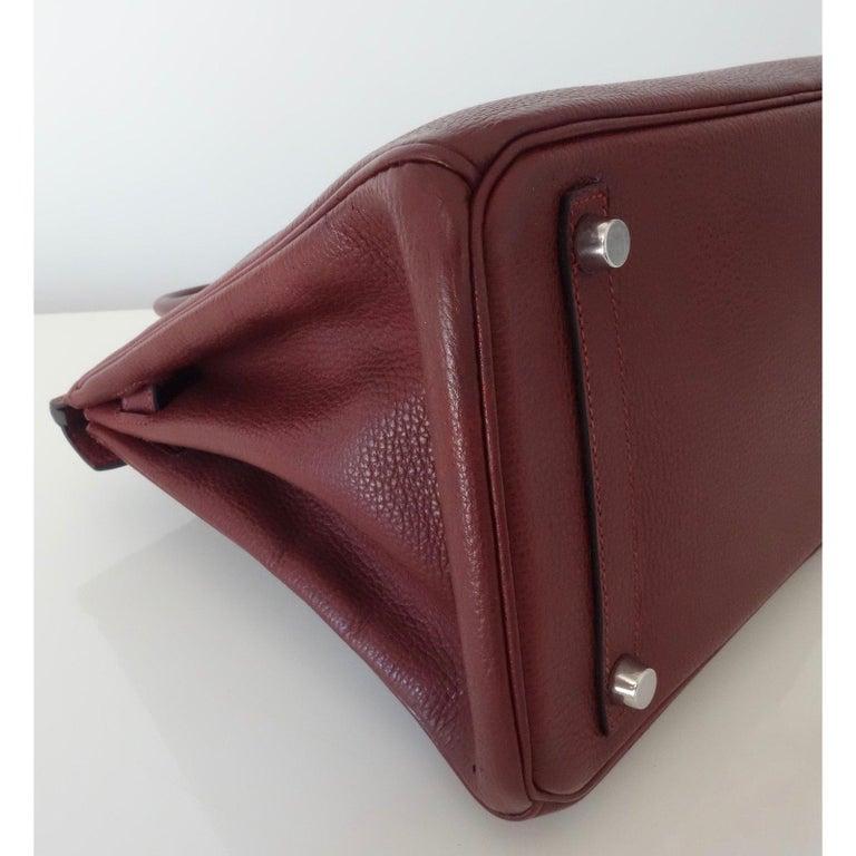 Women's Hermès Taurillon Clemence Leather Bordeaux Burgundy Phw 30 cm Birkin Bag