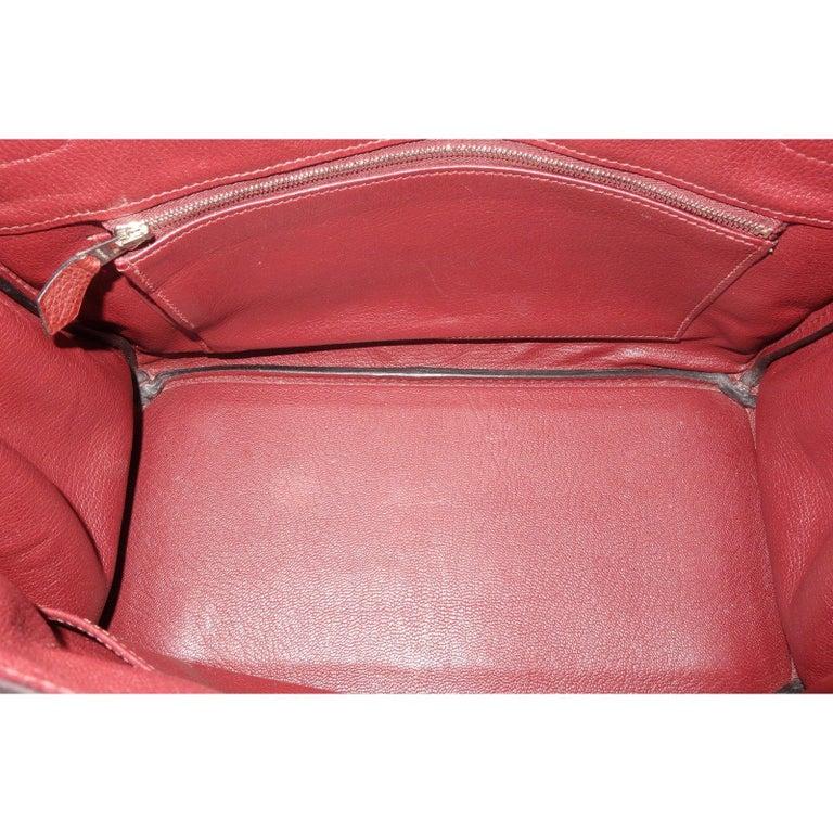 Hermès Taurillon Clemence Leather Bordeaux Burgundy Phw 30 cm Birkin Bag   5