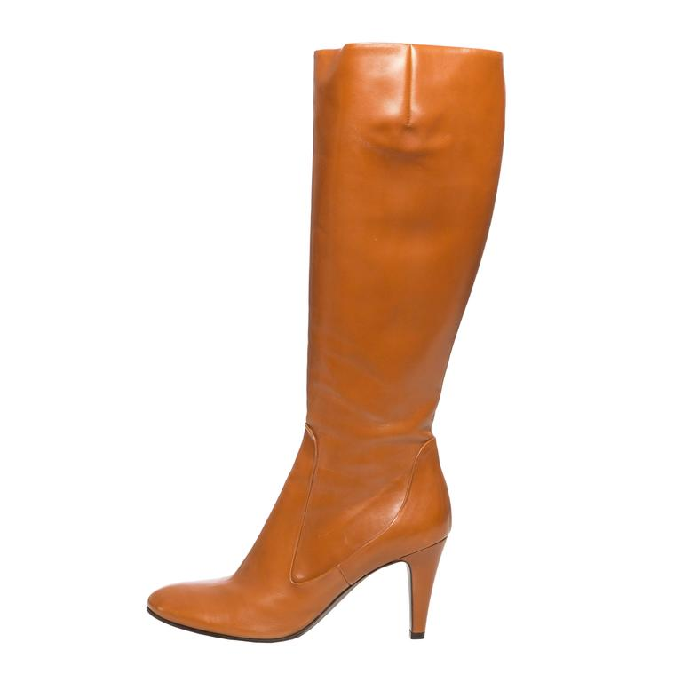 Alexander McQueen Cognac Leather Boots