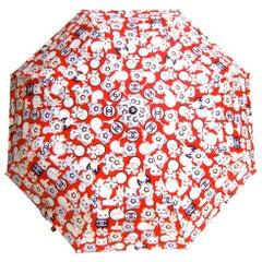 Chanel Whimsical Cat Theme Umbrella in Chanel Box Circa 21st C