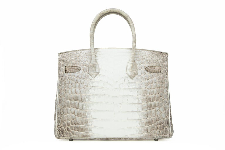 Women's or Men's Hermès Birkin Bag 30cm Himalayan Diamond Encrusted  & Matching Kelly GM Bracelet For Sale