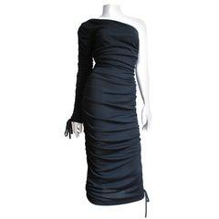 Dolce & Gabbana One Sleeve Side Laceup Dress