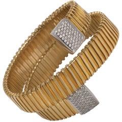 Micheletto Italian Handmade  Faux Diamond Gold Vermeil Sterling Roma Bracelet