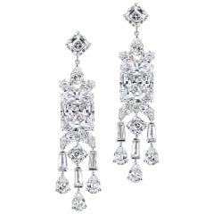 Chic Modern Art Deco Style Cubic Zirconia Fringe Earrings