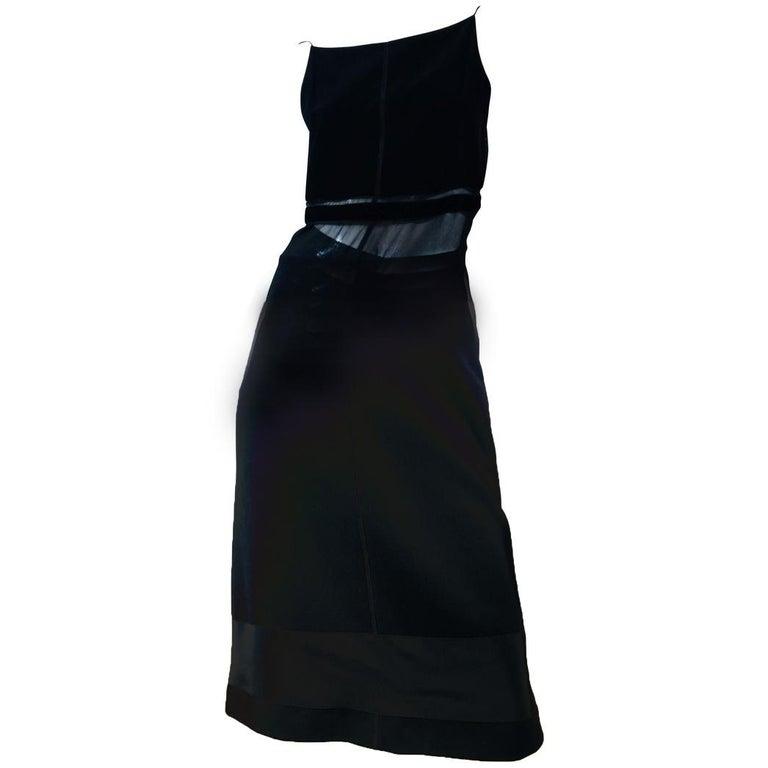 Prada Black Spaghetti Strap Dress  For Sale