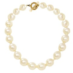 CHANEL Vintage '50s-'60s Large Pearl Choker Necklace