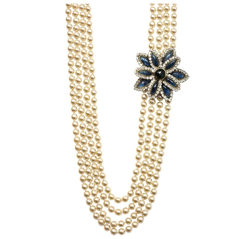 Chanel Vintage '83 Four Strand Pearl Necklace 1