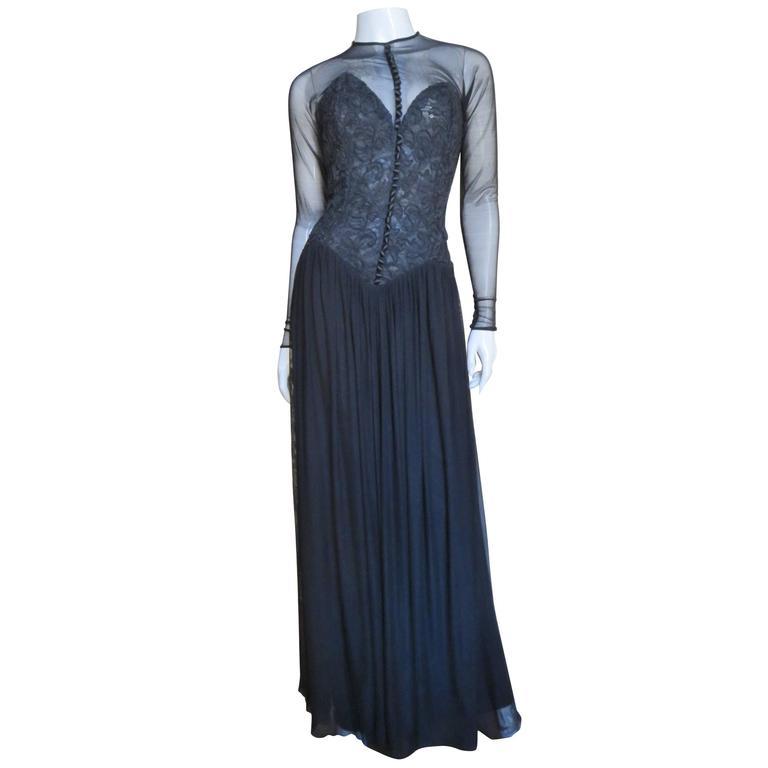 1980s Vicky Tiel Corset Dress