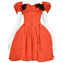 Vintage Christian Lacroix Iconic SS 1988 Polka Dot Party Dress