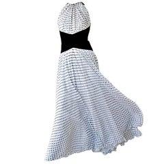 Divine Jacqueline de Ribes Parisian Polkadot Silk Evening Dress