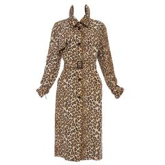 Alexander McQueen Silk Leopard Print Trench Coat, Autumn-Winter 2005
