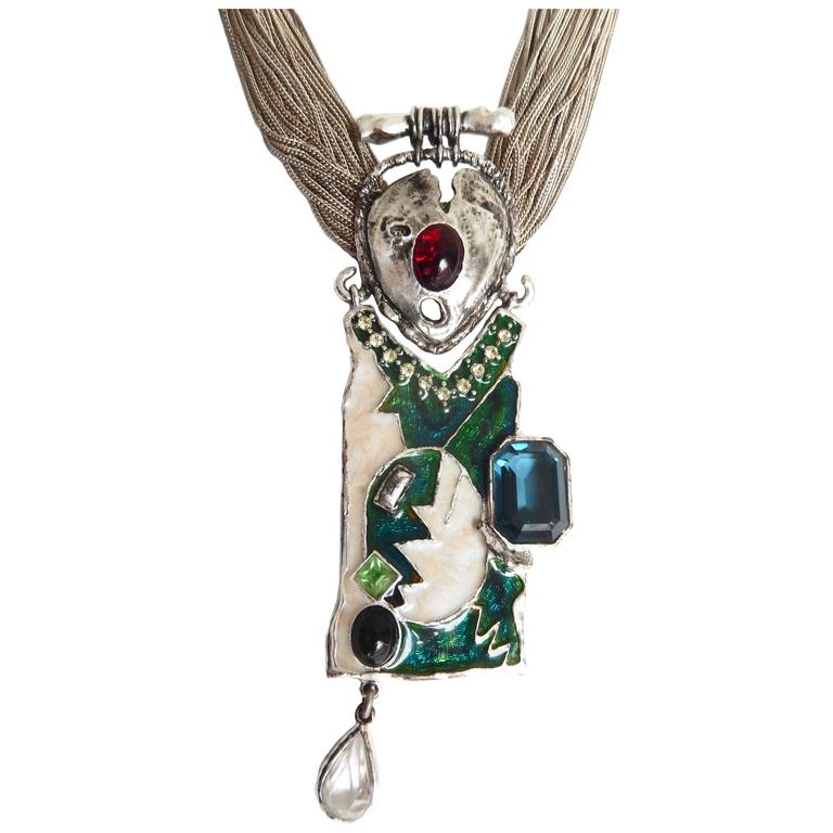 1990s Lacroix Modern Tribalist Necklace For Sale