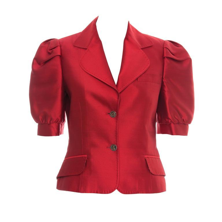 Dolce & Gabbana Silk Jacket Spring 2005