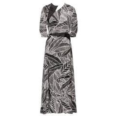 Rare Geoffrey Beene Vintage Designer Maxi Dress C1970s