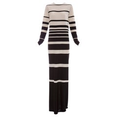 Marc Jacobs Runway Silk Crew Neck Striped Maxi Dress, Spring 2013