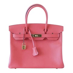 Hermes Birkin 30 Bag Exquisite Rose Jaipur Pink Epsom Gold Hardware