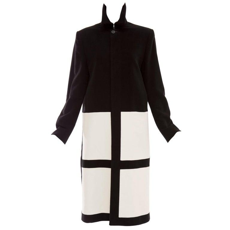 John Bartlett Runway Black Ivory Moleskin Coat, Autumn ...