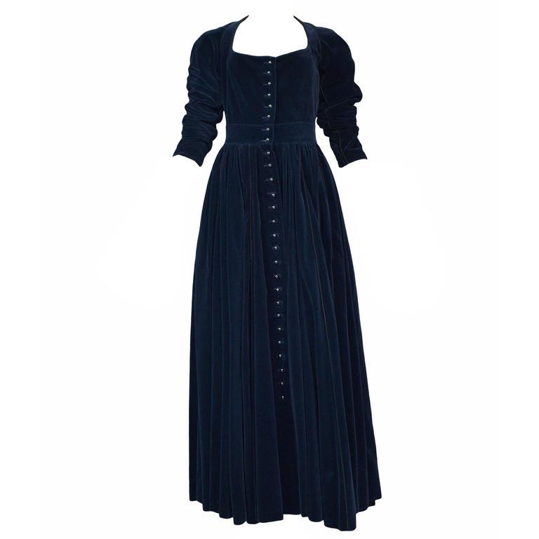 Alaia Blue Velvet Gown