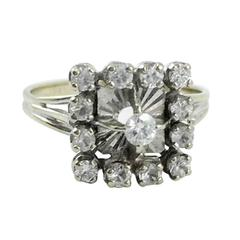 White Gold and Diamond Ring - 1960s