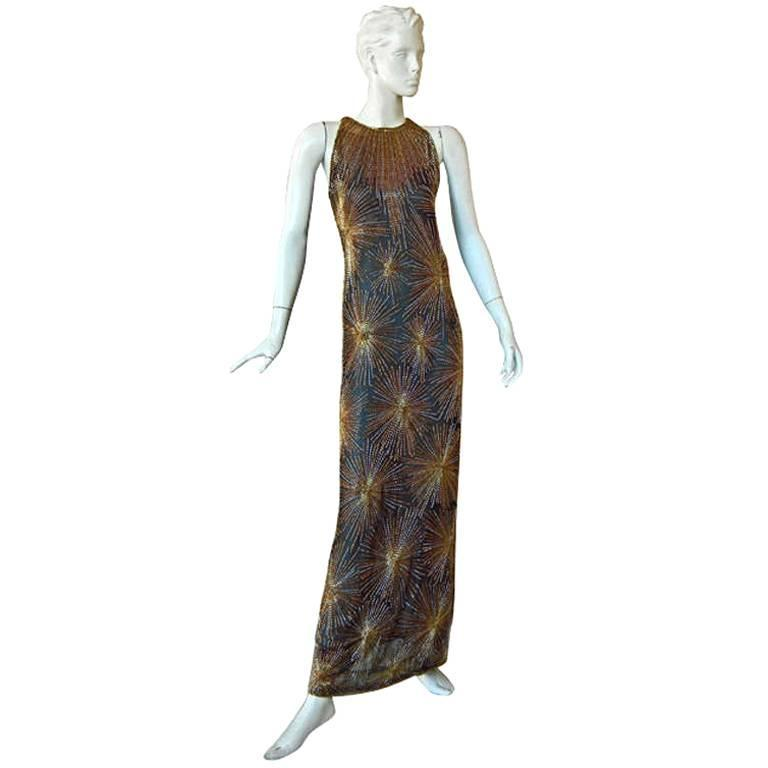 Published Halston Fireworks Evening Gown & Matching Jacket