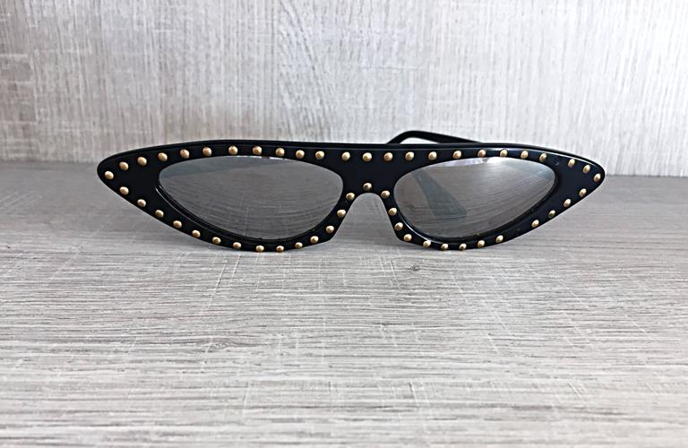 Patrick Kelly Amazing And Rare Vintage Cat Eye Sunglasses