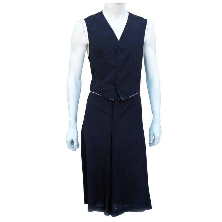 Jean Paul Gaultier Men's Skirt Suit - Single Sex Dressing For Sale