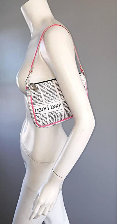 "Rare John Galliano "" Sex and the City "" Newspaper ' Newsprint ' Purse Bag 2"