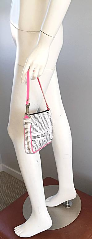"Rare John Galliano "" Sex and the City "" Newspaper ' Newsprint ' Purse Bag 4"