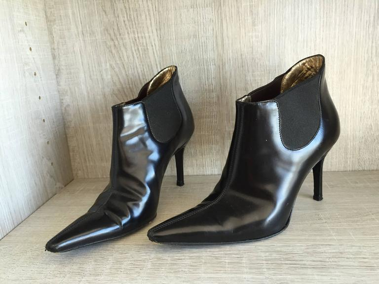 Dolce & Gabbana Size 36 / 6 Black Leather Ankle Boots / Booties  4