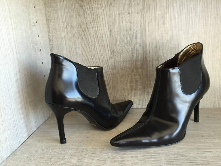 Dolce & Gabbana Size 36 / 6 Black Leather Ankle Boots / Booties  6