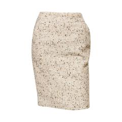 Chanel Camel Tweed and Lurex Skirt